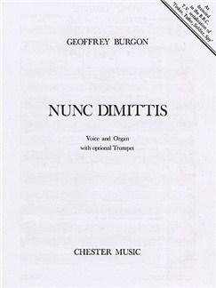 Geoffrey Burgon: Nunc Dimittis (Voice/Organ) Books | Voice, Organ and Optional Trumpet
