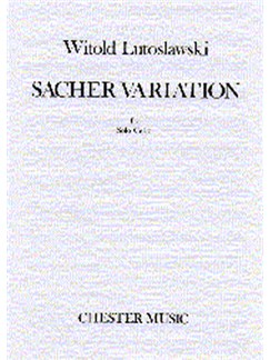 Witold Lutoslawski: Sacher Variation For Solo Cello Livre | Violoncelle