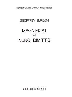 Geoffrey Burgon: Magnificat And Nunc Dimittis Books | Soprano, Alto, Organ