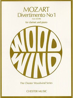 Mozart: Divertimento No.1 K439b For Clarinet And Piano Books | Clarinet, Piano