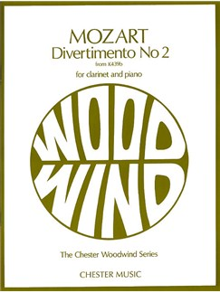 W.A. Mozart: Divertimento No.2 K.439b (Clarinet/Piano) Books | Clarinet, Piano Accompaniment