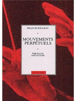 Francis Poulenc: Mouvements Perpetuels (Flute/Guitar) Books   Flute and Guitar
