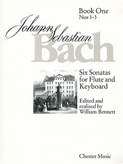 J.S. Bach:  Six Sonatas For Flute And Keyboard Book One Nos. 1-3 Books | Flute, Piano Accompaniment