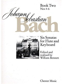 J.S. Bach: Six Sonatas For Flute And Keyboard Book Two Nos. 4-6 Books | Flute, Piano Accompaniment
