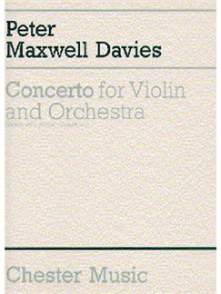 Peter Maxwell Davies: Concerto For Violin And Orchestra Books | Violin, Piano