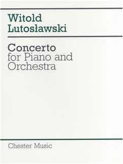 Witold Lutoslawski: Concerto For Piano And Orchestra (Score) Books | Piano, Orchestra