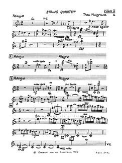 Thea Musgrave: String Quartet (Parts) Books | String Quartet