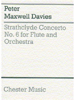 Peter Maxwell Davies: Strathclyde Concerto No. 6 (Miniature Score) Books | Flute, Orchestra