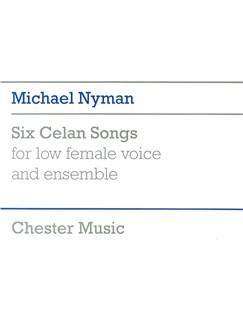 Michael Nyman: Six Celan Songs - Full Score Books | Low Voice, Ensemble