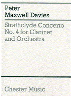 Peter Maxwell Davies: Strathclyde Concerto No. 4 (Miniature Score) Books | Clarinet, Orchestra