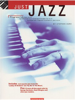 Just Jazz: Progressive Piano Solos From Grades III To V Books | Piano & Guitar, with guitar chord boxes