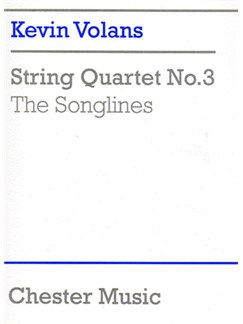 Kevin Volans: String Quartet No.3 'The Songlines' (Score) Books | String Quartet
