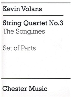 Kevin Volans: String Quartet No.3 'The Songlines' (Parts) Books | String Quartet