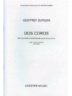 Geoffrey Burgon: Dos Coros For 12 Solo Voices Or Choir Books | Soprano, Alto, Tenor, Bass