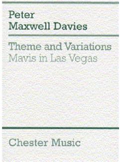 Peter Maxwell Davies: Theme And Variations (Mavis In Las Vegas) (MIniature Score) Books | Orchestra