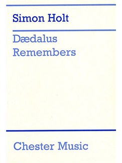 Simon Holt: Daedalus Remembers Libro | Voz