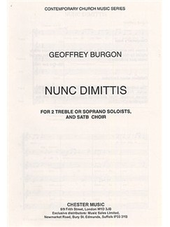 Geoffrey Burgon: Nunc Dimittis Books | Solo Soprano, Soprano, Alto, Tenor, Bass Chorus