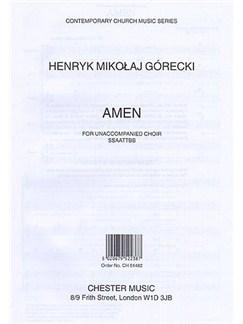 Henryk Mikolaj Gorecki: Amen (SSAATTBB) Books | SSAATTBB