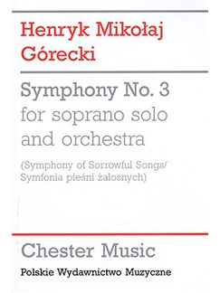 Henryk Gorecki: Symphony No.3 (Symphony of Sorrowful Songs) - Study Score Books | Soprano and Orchestra