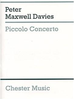 Peter Maxwell Davies: Piccolo Concerto (Study Score) Books | Solo Piccolo, Orchestra