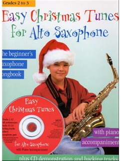 Easy Christmas Tunes For Alto Saxophone Books and CDs | Alto Saxophone, Piano