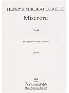 Henryk Górecki: Miserere Op.44 (Vocal Score) Books | SATB