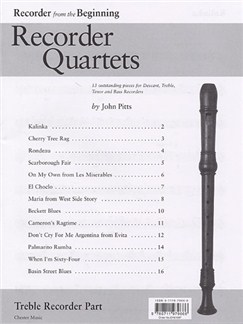Recorder Quartets: Treble Recorder Part Books | Alto (Treble) Recorder