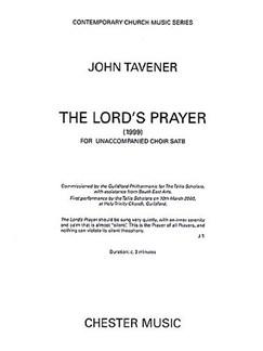 John Tavener: The Lord's Prayer (1999) Books | SATB