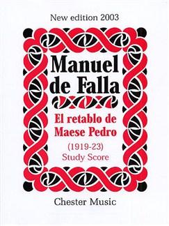 Manuel De Falla: El Retablo De Maese Pedro (Study Score) Libro | Agudo, Tenor, Barítono Voz, Orquesta