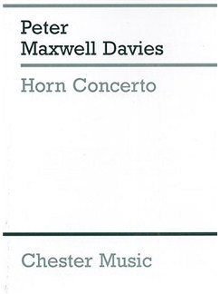 Peter Maxwell Davies: Horn Concerto (Study Score) Books | Solo Horn In F, Orchestra