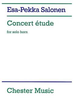 Esa-Pekka Salonen: Concert Etude For Solo Horn (Score) Books | Horn