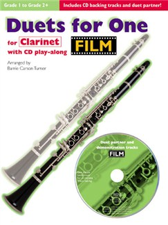 Film Duets For One: Clarinet Books and CDs | Clarinet Duet