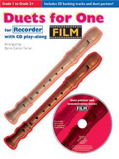 Film Duets For One: Recorder Books and CDs | Recorder