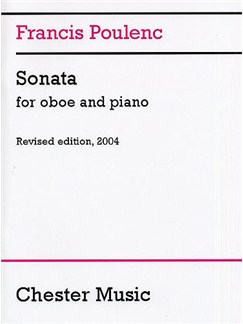 Francis Poulenc: Sonata For Oboe And Piano (Revised 2004) Books | Oboe, Piano Accompaniment