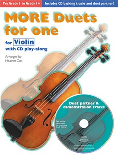 More Duets For One: Violin Books and CDs | Violin Duet