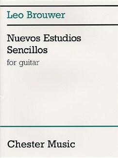 Leo Brouwer: Nuevos Estudios Sencillos Livre | Guitare