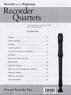 Recorder Quartets: Descant Recorder Part Books | Soprano (Descant) Recorder
