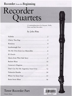 Recorder Quartets: Tenor Recorder Part Books | Tenor Recorder