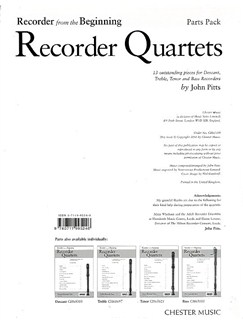 Recorder From The Beginning: Recorder Quartets (Set Of Parts) Libro | Flauta Dulce(Cuarteto)