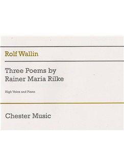 Rolf Wallin: Three Poems By Rainer Maria Rilke Books | Soprano and Piano
