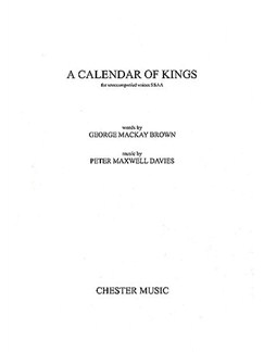 Peter Maxwell Davies: A Calendar Of Kings (SSAA) Books | SSAA
