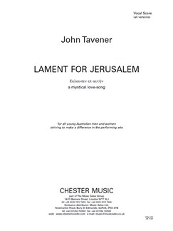 John Tavener: Lament For Jerusalem - Vocal Score (Soprano, Countertenor, SATB Chorus, Piano Accompaniment) Books | Soprano, Countertenor, SATB, Piano Accompaniment