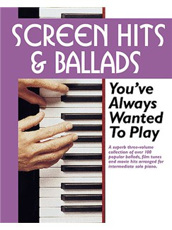 Screen Hits And Ballads You've Always Wanted To Play (Slipcase Edition) Books | Solo Piano