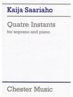 Kaija Saariaho: Quatre Instants Books | Soprano, Piano Accompaniment