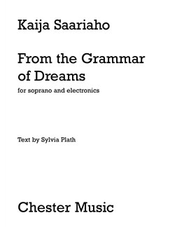 Kaija Saariaho: From The Grammar Of Dreams For Soprano And Electronics Books and CDs | Soprano, Electronics