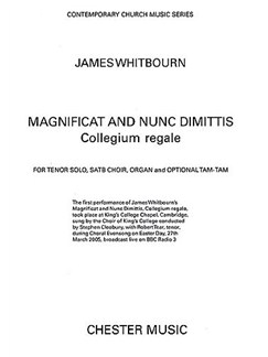 James Whitbourn: Magnificat And Nunc Dimittis (Collegium Regale) Books | Tenor Solo, SATB, Organ Accompaniment, Tam Tam (Optional)