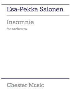 Esa-Pekka Salonen: Insomnia For Orchestra (Score) Books | Orchestra