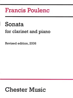 Francis Poulenc: Clarinet Sonata (2006 Edition) Books | Clarinet, Piano Accompaniment