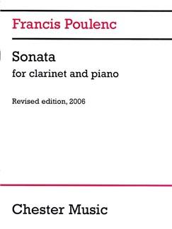 Francis Poulenc: Clarinet Sonata (2006 Edition) Livre | Clarinette, Accompagnement Piano