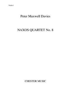 Peter Maxwell Davies: Naxos Quartet No.8 (Parts) Books | String Quartet